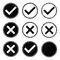 Stock Image : Approved and Denied Stamp Icons