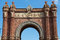 Stock Image : The Arc de Triomf in Barcelona