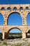 Stock Image : Arch Bridge of Pont du Gard