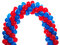 Stock Image : Arch of red and blue balloons