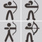Stock Image : Archery icons