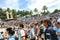 Stock Image : Argentina fans on Miami Beach