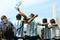 Stock Image : Argentina football fans on Miami beach