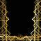 Stock Image : Art deco geometric frame