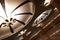 Stock Image : Art deco overhead lights at metro station
