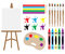 Stock Image : Art Supplies Clipart