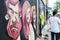 Stock Image : Artist & Graffiti spray can's