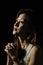 Stock Image : Asian Girl pray