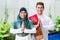 Stock Image : Asian Muslim couple wearing traditional dress