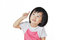 Stock Image : Asian small girl child pointing at something