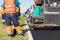 Stock Image : Asphalt pavement construction works