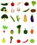 Stock Image : Vegetable Icons