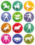 Stock Image : Astrological zodiac signs