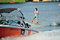 Stock Image : Athlete performing stunt during Rip Curl Singapore National Inter Varsity