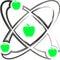 Stock Image : Atom apple