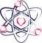 Stock Image : Atom heart