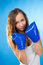 Stock Image : Attractive woman in boxing gloves