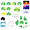 Stock Image : Australian States and flags