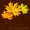 Stock Image : Autumn card.