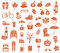 Stock Image : Autumn icons
