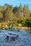 Stock Image : Autumn landscape. frost