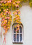 Stock Image : Autumn Leaves Hang over Window