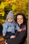 Stock Image : Autumn portrait mum and son
