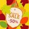 Stock Image : Autumn sale background