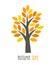 Stock Image : Autumn tree icon