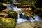Stock Image : Autumn waterfall, Czech-Saxon Switzerland