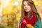 Stock Image : Autumn woman portrait