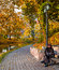 Stock Image : Autumnal park in the center of Riga, Latvia