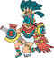 Stock Image : Aztec god, color version