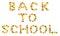 Stock Image :  B A.C.K T O S C H O O L tekst komponujący jesień klonowi liście