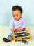 Stock Image : Baby with abacus
