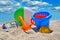 Stock Image : Baby beach toys