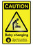 Stock Image : Baby Changing Hazard Sign