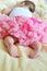 Stock Image : Baby girl is sleeping