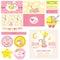 Stock Image : Baby Shower Bunny Theme