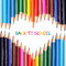 Stock Image : Back to school concept. Colorful pencils
