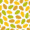 Stock Image : Background from autumn leaves of oak