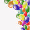 Stock Image : Background with balloons