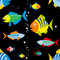 Stock Image : Background of colorful fish