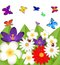 Stock Image : Background for a design with beautiful flowers