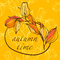 Stock Image : Background with hand drawing autumn leaves