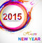 Stock Image : Background for Happy New Year 2015 colorful grunge