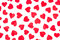 Stock Image : Background paper red hearts