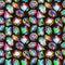 Stock Image : Background seamless placer precious stones on black