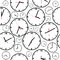 Stock Image : Background with simple clocks