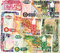Stock Image : Background of Zambia kwacha banknotes